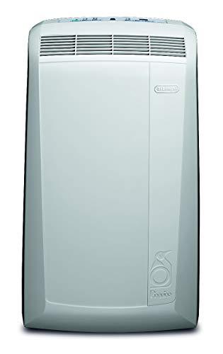 De'Longhi Pinguino PAC N82 ECO Silent – mobiles Klimagerät mit Abluftschlauch, leise Klimaanlage für Räume bis 80 m³, Luftentfeuchter, Ventilationsfunktion, 12h-Timer, 2,4 kW, 75 x 45 x 39,5 cm, weiß