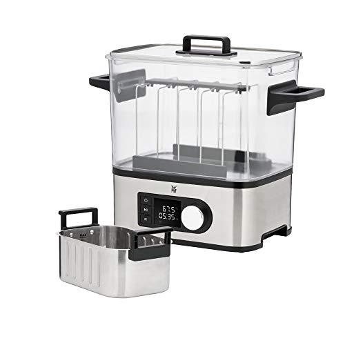 WMF LONO 2in1 Sous Vide Garer Pro mit Slow-Cook Einsatz, Vakuum garen, Schongaren, Wasserbhälter 6,0l, Timer-Funktion bis 72 Stunden, 1500W