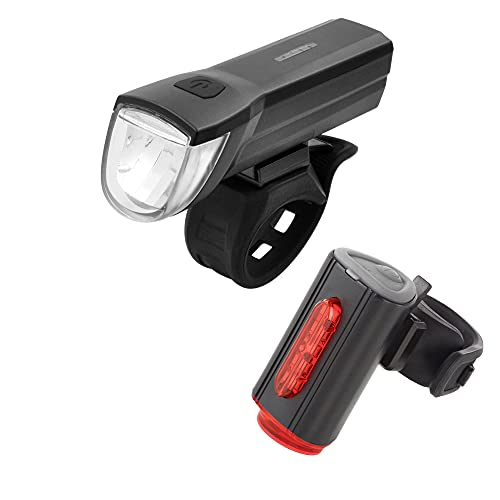 FISCHER USB Beleuchtungs-Set mit innovativer 360° Bodenleuchte für mehr Sichtbarkeit und Schutz | Frontlicht 30 Lux