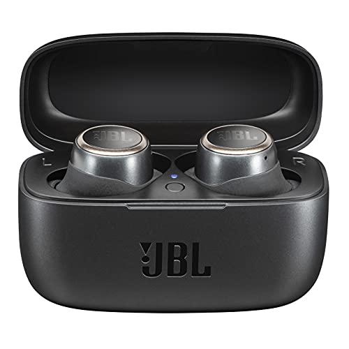 JBL LIVE 300TWS In-Ear Bluetooth Kopfhörer in Schwarz – True Wireless Ohrhörer mit Freisprecheinrichtung – Bis zu 6 Stunden Akkulaufzeit mit einer Ladung – Inkl. Ladecase